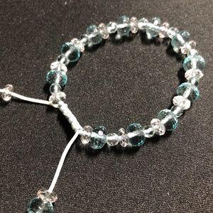 Adjustable sky blue bracelet